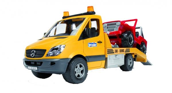 Bruder Mercedes Benz Abschleppdienst mit Geländewagen und Licht und Sound Modul