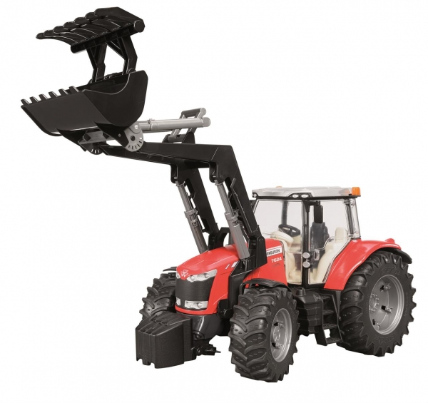 Bruder Traktor mit Frontlader Massey-Ferguson 7600
