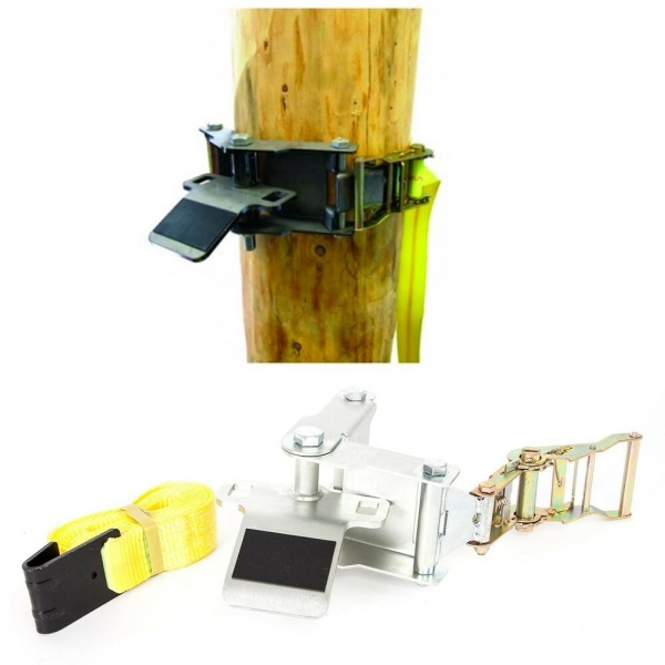 Portable Winch Baumhalteplatte mit Ratschengurt