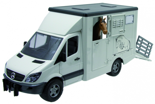 Bruder Mercedes Benz Sprinter Tiertransporter inkl. 1 Pferd